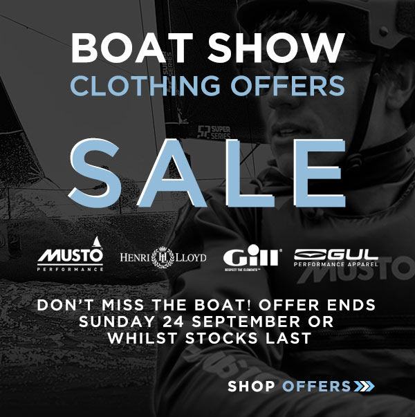 Clothing Boat Show Offers